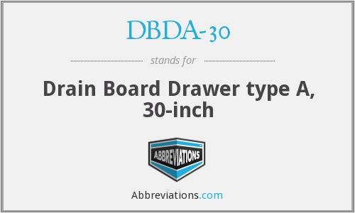 What does DBDA-30 stand for?