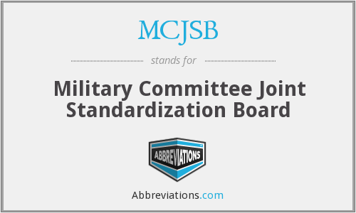 What does MCJSB stand for?