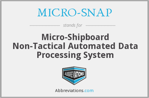 What does MICRO-SNAP stand for?