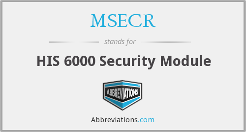 What does MSECR stand for?