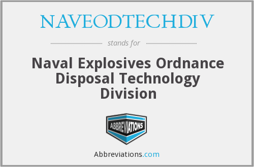 What does NAVEODTECHDIV stand for?