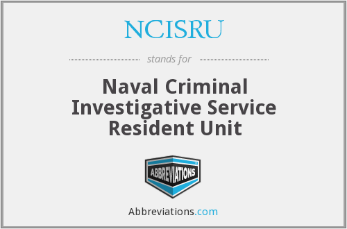What does NCISRU stand for?