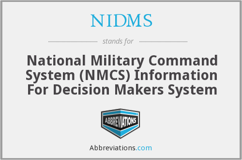 What does NIDMS stand for?