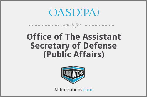What does OASD(PA) stand for?