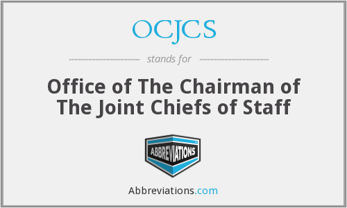 What does OCJCS stand for?