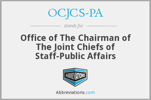 What does OCJCS-PA stand for?