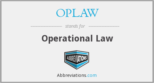 What does OPLAW stand for?