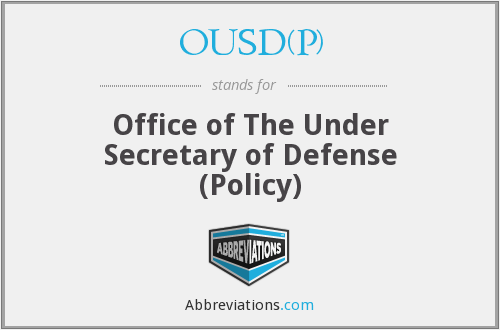 What does OUSD(P) stand for?