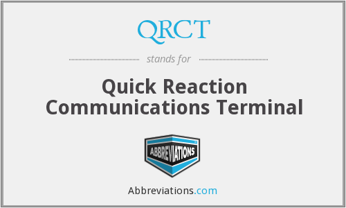 What does QRCT stand for?