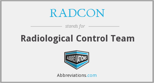 What does RADCON stand for?