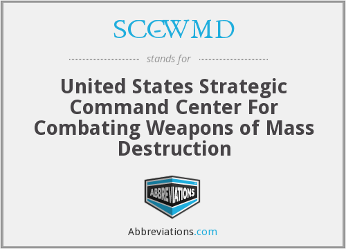What does SCC-WMD stand for?