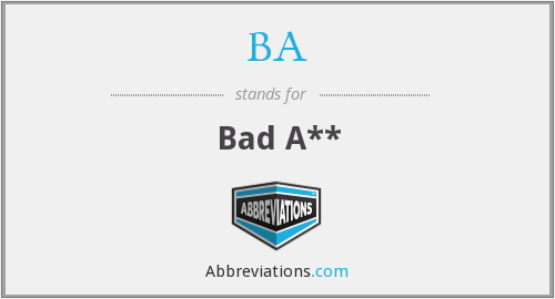 What does BA. stand for?