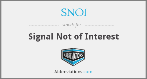 What does SNOI stand for?