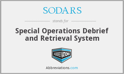 What does SODARS stand for?
