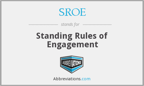 What does SROE stand for?