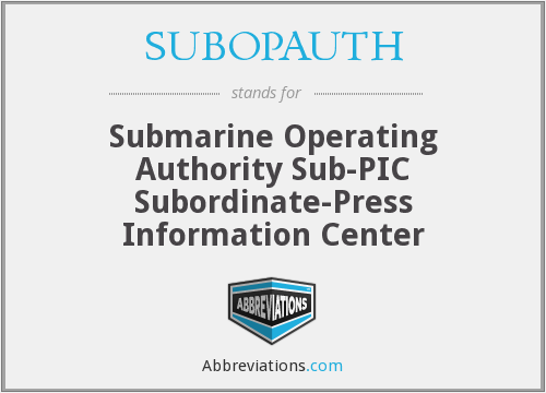 What does SUBOPAUTH stand for?