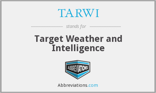 What does TARWI stand for?