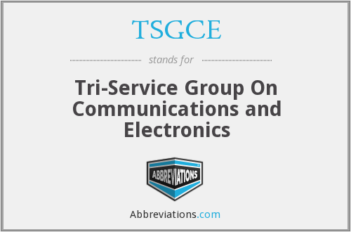 What does TSGCE stand for?