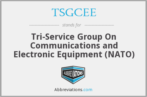 What does TSGCEE stand for?