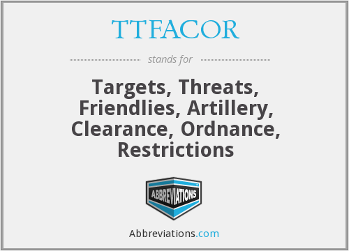 What does TTFACOR stand for?