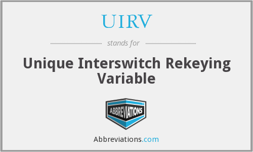 What does UIRV stand for?