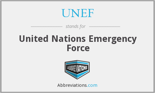 What does UNEF stand for?