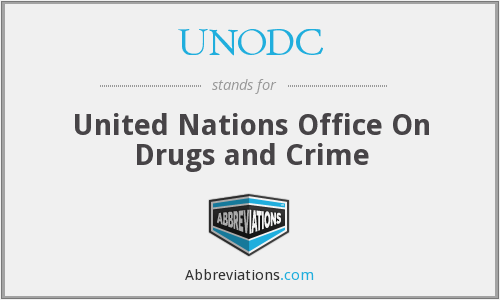 What does UNODC stand for?