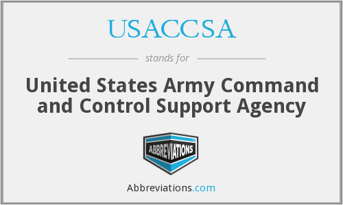 What does USACCSA stand for?