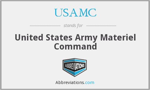 What does USAMC stand for?