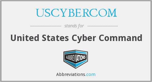 What does USCYBERCOM stand for?