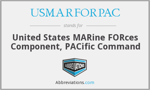 What does USMARFORPAC stand for?