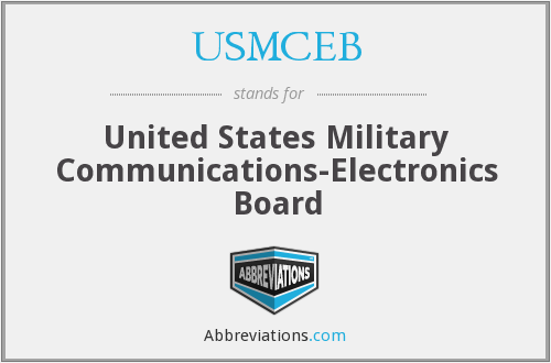 What does USMCEB stand for?