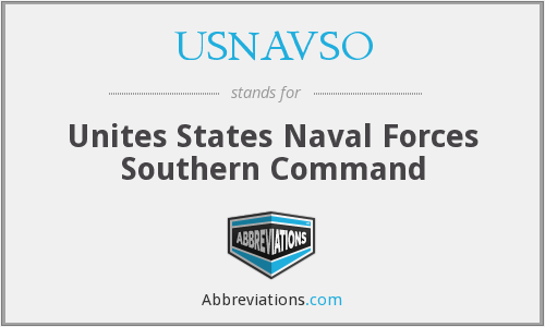 What does USNAVSO stand for?