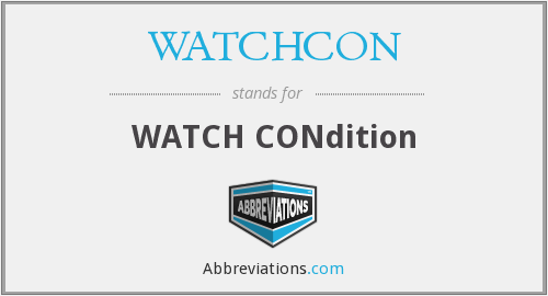 What does WATCHCON stand for?