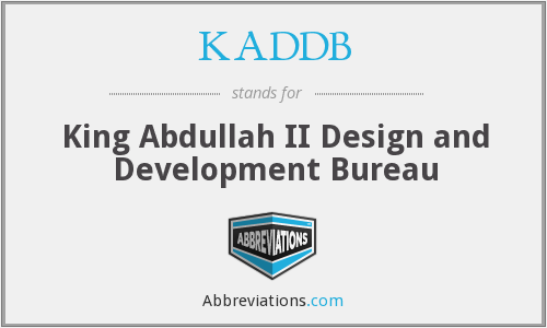 What does KADDB stand for?