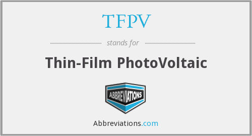 What does TFPV stand for?