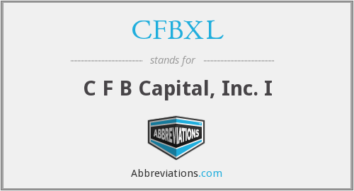 What does CFBXL stand for?