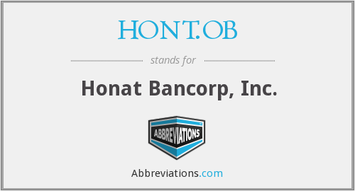 What does HONT.OB stand for?