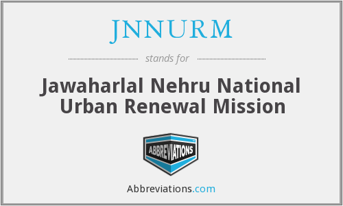 What does JNNURM stand for?