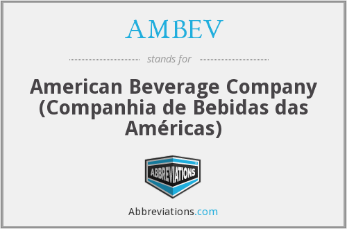What does AMBEV stand for?