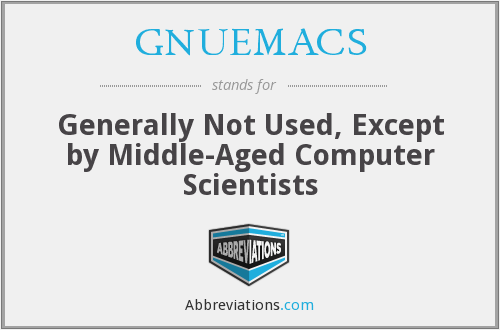 What does GNUEMACS stand for?