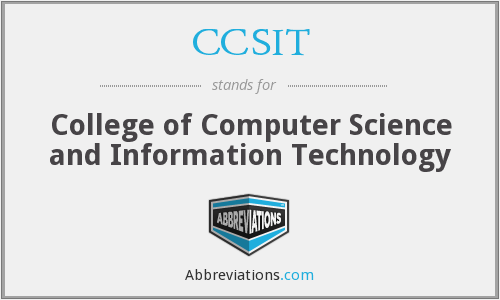 What does CCSIT stand for?