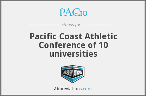 What does PAC-10 stand for?