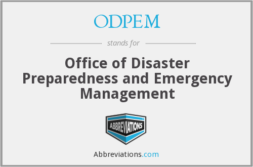 What does ODPEM stand for?