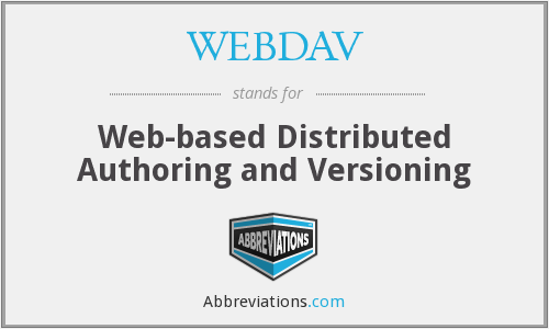 What does WEBDAV stand for?