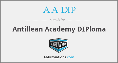 What does AA DIP stand for?