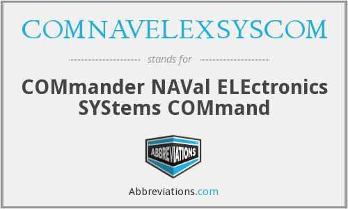 What does COMNAVELEXSYSCOM stand for?