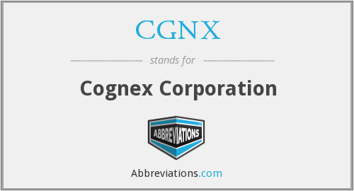 What does CGNX stand for?