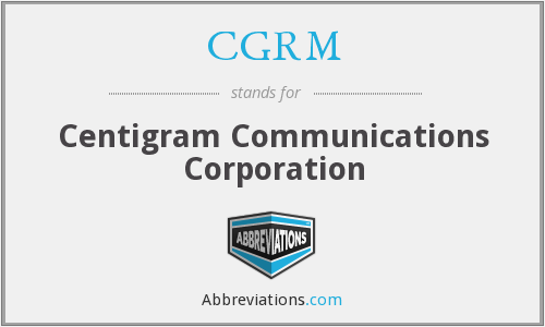 What does CGRM stand for?