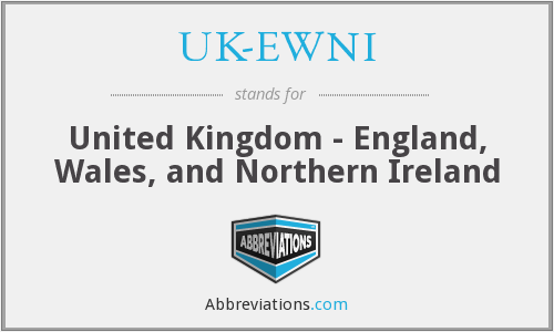 What does UK-EWNI stand for?